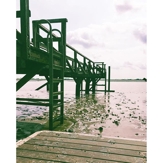 Low tide. Eider, Tönning, Nordfriesland. #nordfriesland #shorttrip #northsea #